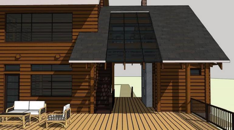 Проект жилого загородного дома с террасой по адресу: г. Москва, дер. Никифоровское, д. 7а.